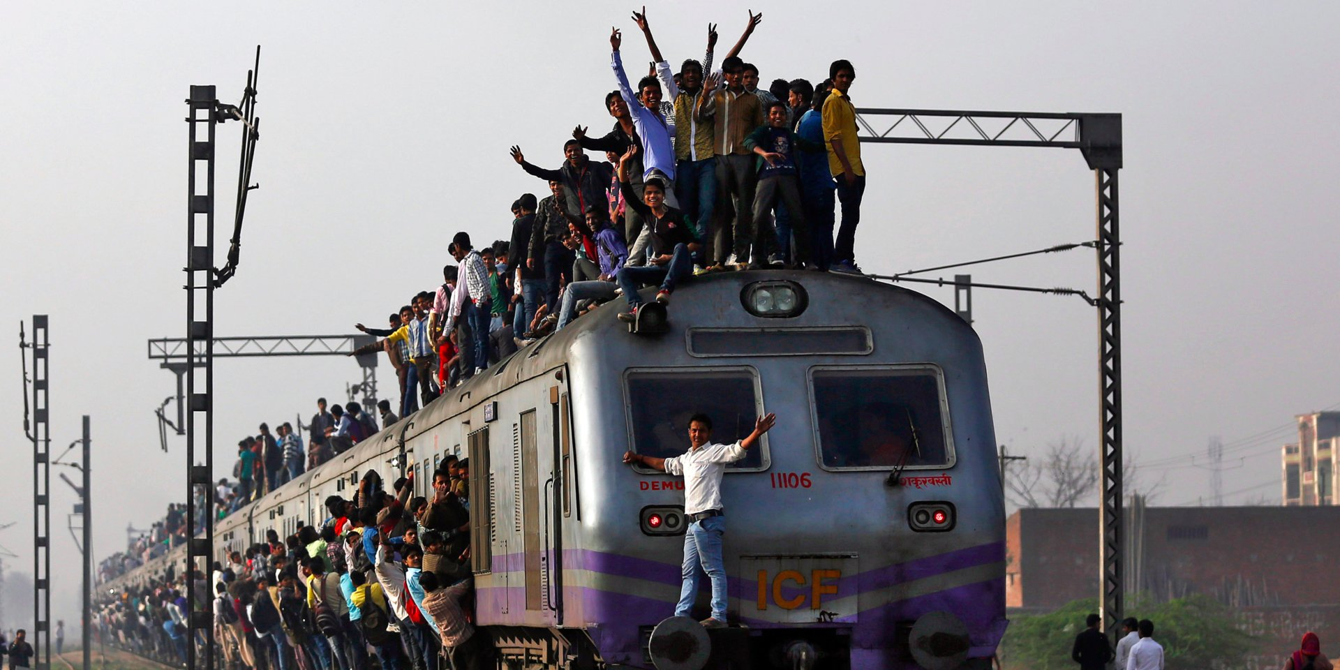 Crowded Railway Stations in India