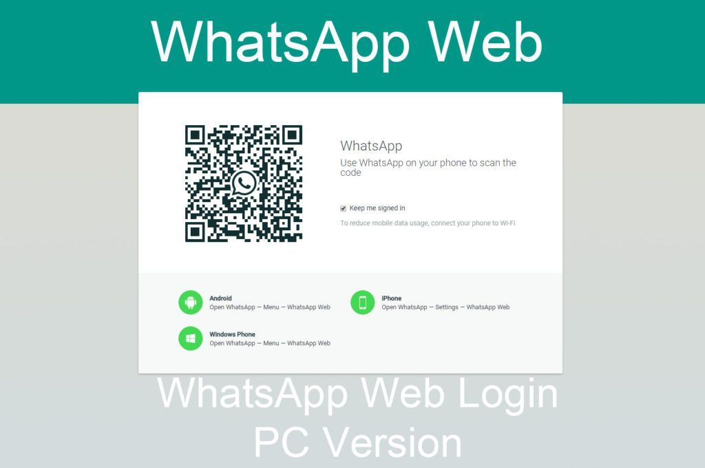 Use WhatsApp Web Login on PC – urstoryiq